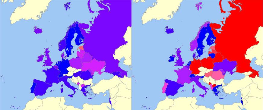 Les votes de l'Eurovision