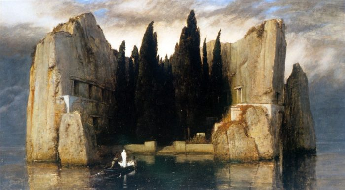 LÎle des Morts, Arnold Böcklin, version de Berlin, 1883.