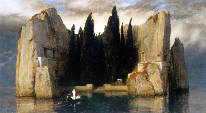 LÎle des Morts, Arnold Böcklin, version de Berlin, 1883.